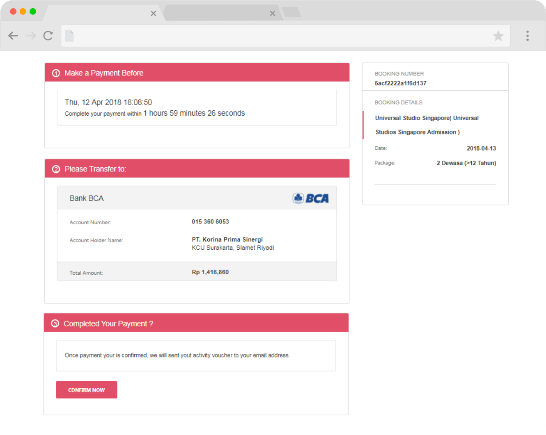 cara pesan tiket wisata online