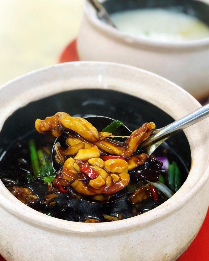 makanan khas Singapura: Frog Porridge