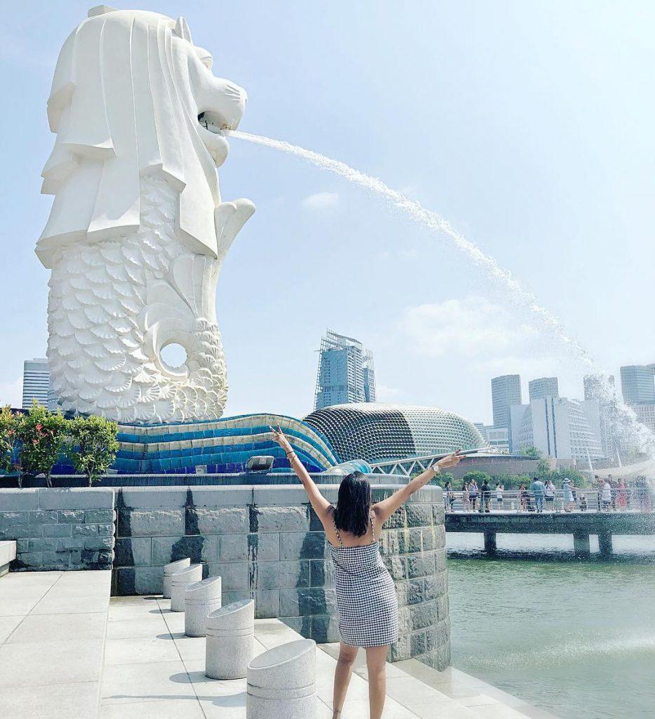 cara ke Singapura dari Malaysia: Merlion Park
