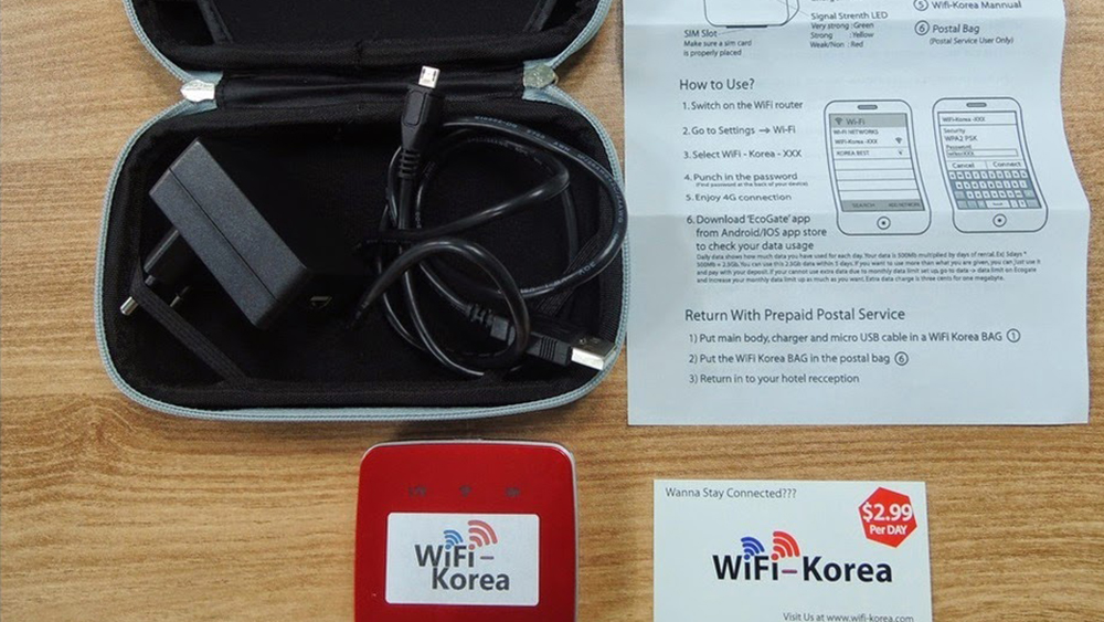 4G WiFi (KR Airport Pick Up) for South Korea from KT Olleh