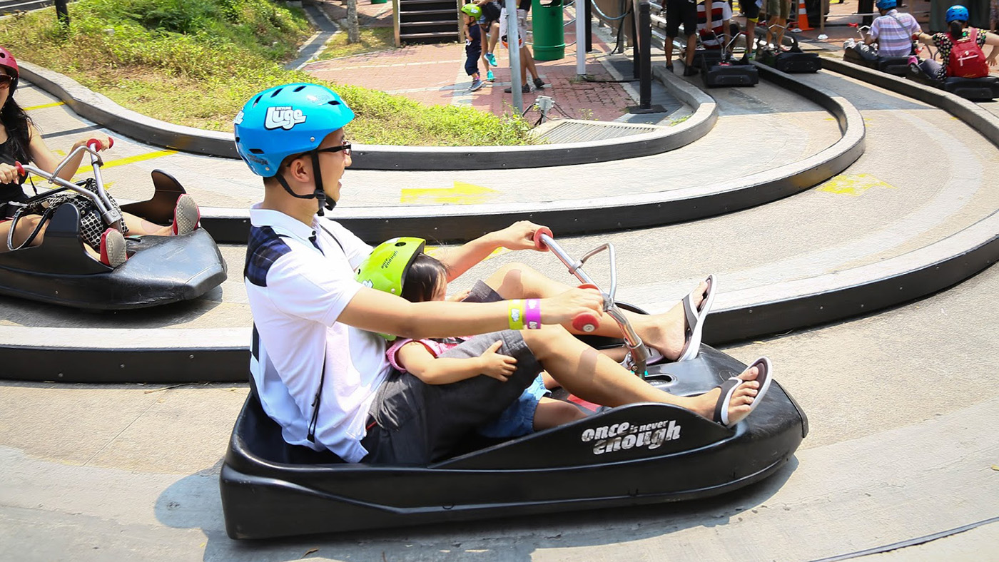 Luge And Skyride Ticket Tiket Singapore Zoo Include Tram Ride Anak Image