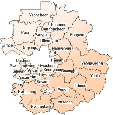 Gyeonggi Map