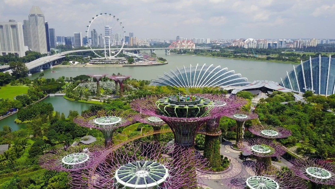 Gardens by the Bay Aerial View