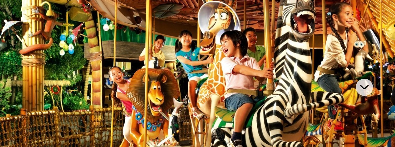 King Julien's Beach Party-Go-Round, Menaiki Karakter Tokoh Madagaskar