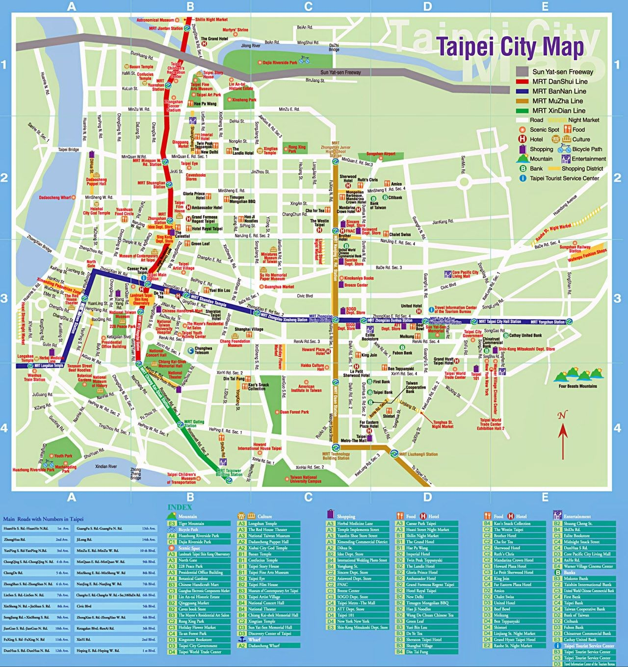 taipei city map